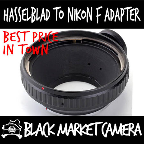 Hasselblad V Lens to Nikon F Body Adapter w/ Tripod Collar