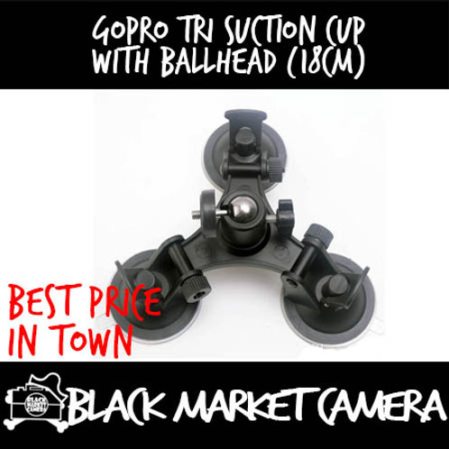GoPro Tri Suction Cup with Ballhead (18cm)
