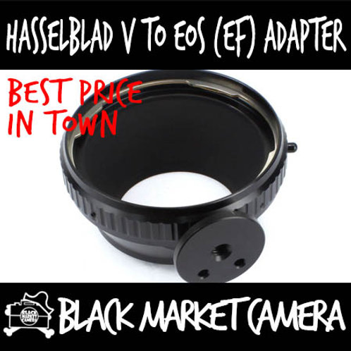 Hasselblad to Canon EOS Lens Adapter w/ Tripod Mount