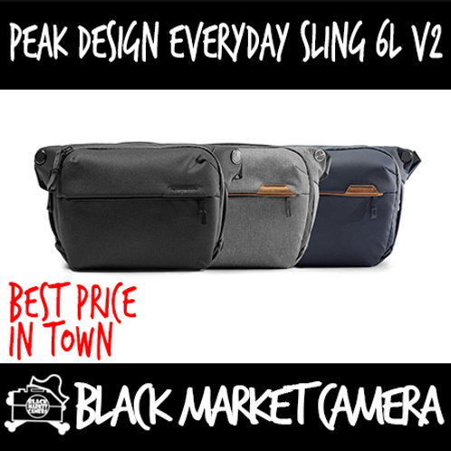 Peak Design Everyday Sling 6L V2 | Available in Black, Midnight & Ash