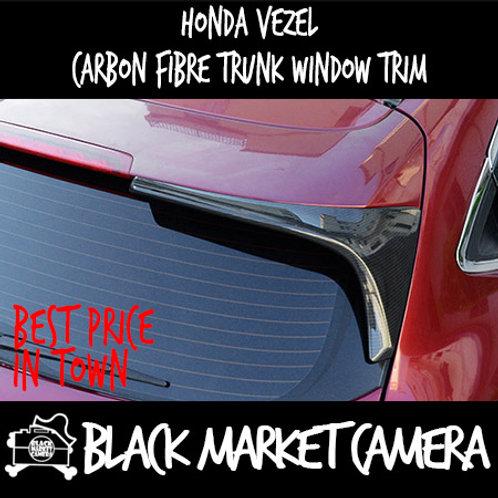 Honda Vezel carbon fibre trunk window trim