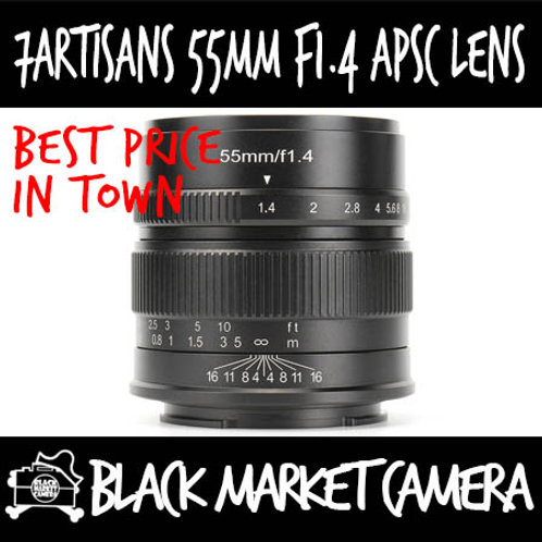 7Artisans 55mm F1.4 Black APSC Sony E Mount