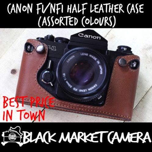 Funper Canon F1/ New F1 Half Leather Case