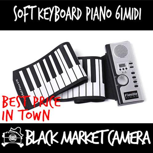 Soft Keyboard Piano 61 MIDI [Portable Piano]