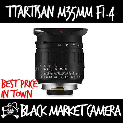 TTArtisan 35mm F1.4 Black for Leica M Mount Camera