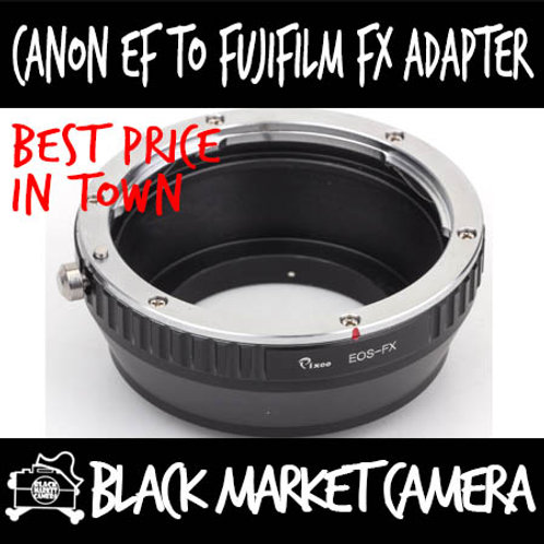 Canon EF Lens to Fuji FX Mount Body Adapter