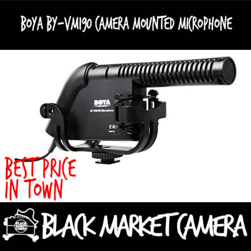 Boya BY-VM190 Camera Mounted Shotgun Microphone