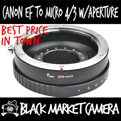 Canon EF Lens to Micro 4/3 Adapter (Built in Aperture)