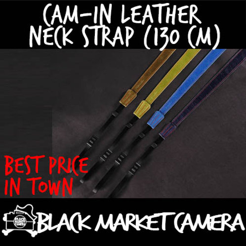 Cam-in Leather Neck Strap (130 cm)