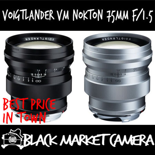 Voigtlander Nokton 75mm F1.5 for Leica-M Mount