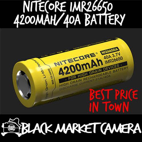 Nitecore IMR26650 4200mAh/40A High Drain Rechargeable Battery
