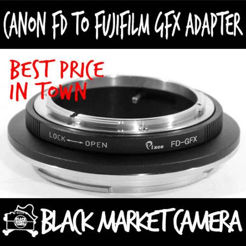 Canon FD Lens to Fujifilm GFX Camera