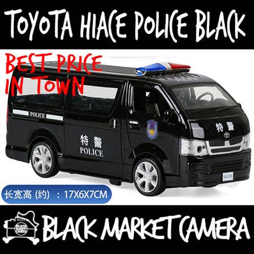 1:32 Toyota Hiace Van Police Black Diecast Car Model