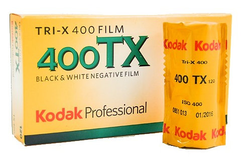 Kodak Tri-X 400 Black & White Film (120mm)