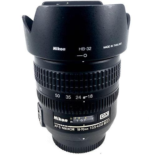 Nikon AFS 18-70mm F3.5-4.5G ED IF DX (used)