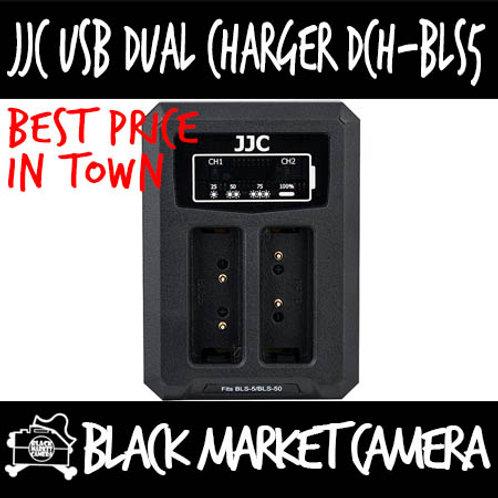 JJC DCH-BLS5 USB Charger for Olympus BLS-1/BLS-5/BLS-50