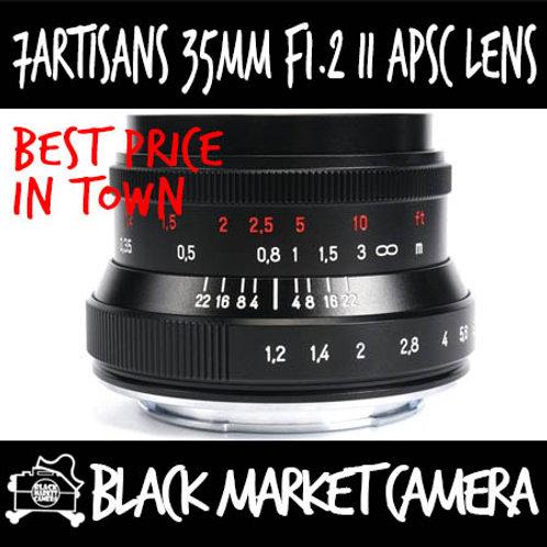 7Artisans 35mm F1.2 II Black APSC Fujifilm X Mount
