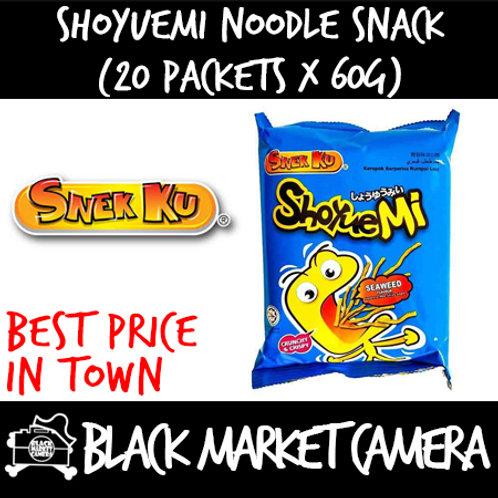 Snek Ku ShoYueMi Noodle Snack (Bulk Quantity, 20 Packets x 60g)