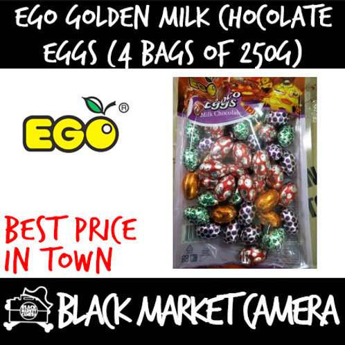 Ego Golden Milk Chocolate Eggs (Bulk Quantity, 4 Bags of 250g)
