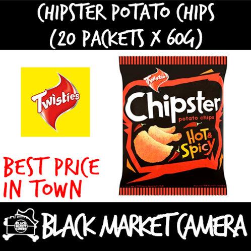 Chipster Potato Chips (Bulk Quantity, 20 packets x 60g)