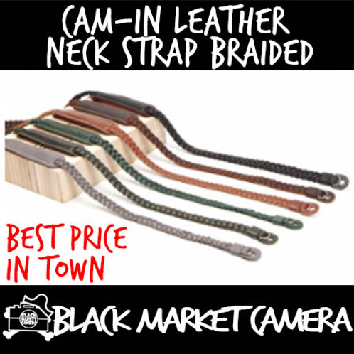 Cam-in Leather Neck Strap 95.5 Braided