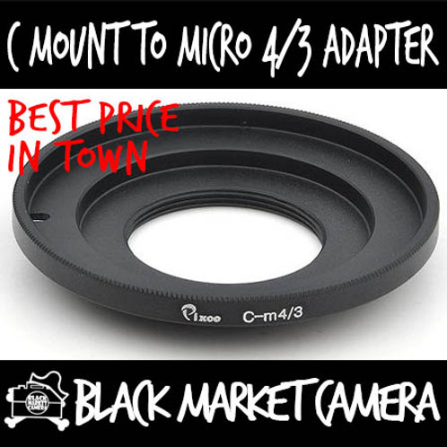 C Mount Lens to Micro 4/3 Body Adapter