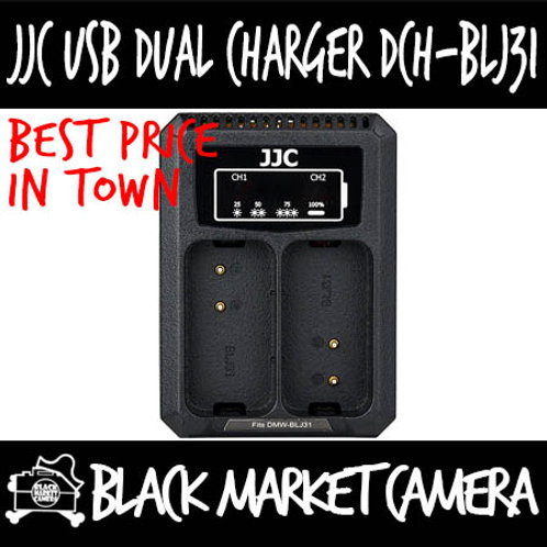 JJC DCH-BLN1 USB Charger for Olympus BLN-1