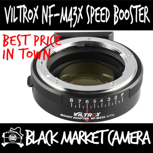Viltrox NF-M43X Adapter for Nikon F Lens to MFT Camera (0.71X Speed Booster)