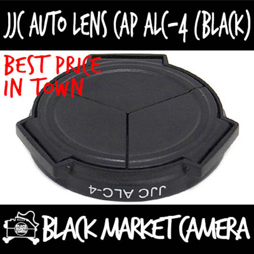 JJC ALC-4 Auto Cap (Black) For Ricoh GXR w/ S10 24-72mm F2.5-4.4 VC