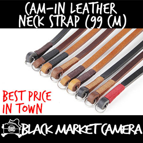 Cam-in Leather Neck Strap (99 cm)
