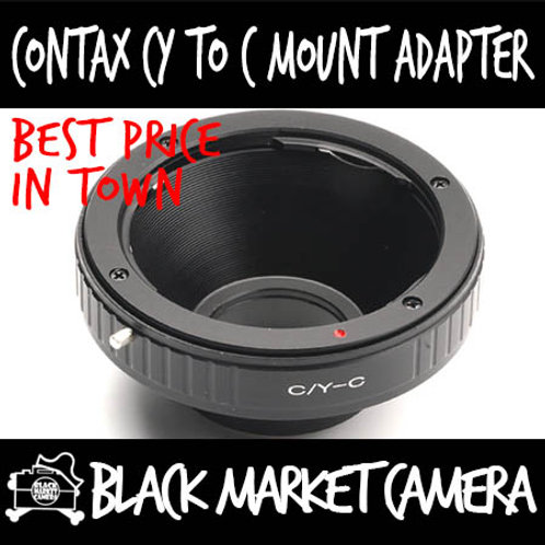 Contax CY Lens to C Mount Body Adapter