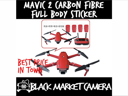 Carbon Fibre Decal Stickers Full Body Cover for DJI Mavic 2