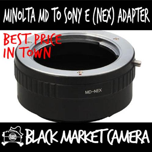 Minolta MD Lens to Sony E (NEX) Body Adapter