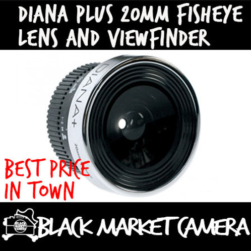 Lomography Diana+ 20mm Fisheye Lens and Viewfinder