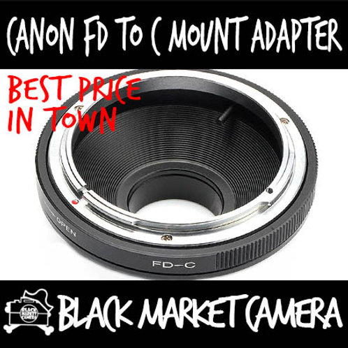 Canon FD Lens to C Mount Body Adapter
