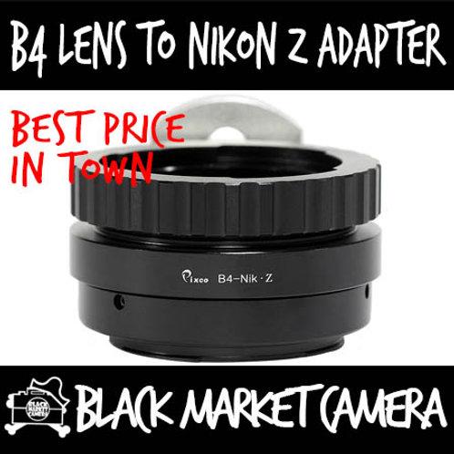 "B4 2/3"" ENG Cine Lens to Nikon Z Mount Camera"