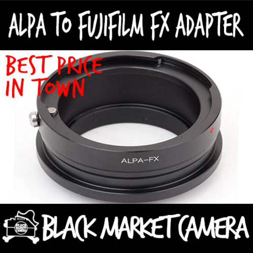 ALPA Lens to Fuji FX Mount Body Adapter