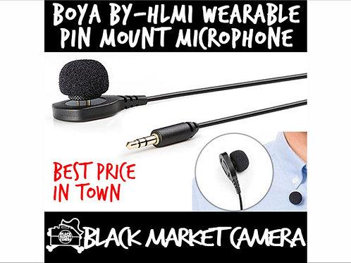 BOYA BY-HLM1 Wearable Pin Mount Style Microphone