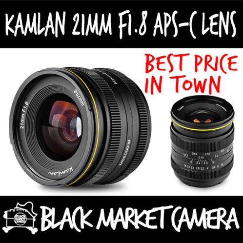Kamlan 21mm F1.8 APSC Lens (Sony E Mount)