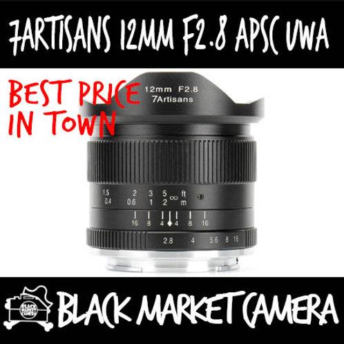 7Artisans 12mm F2.8 APSC Ultrawide Angle Sony E Mount