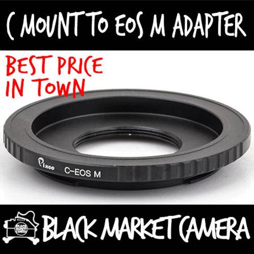 C Mount Lens to Canon EOS M Camera
