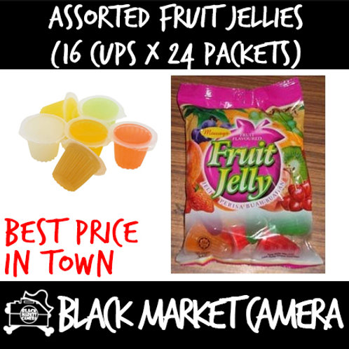 Assorted Fruit Jellies (Bulk Quantity, 16 Cups x 24 Packets)