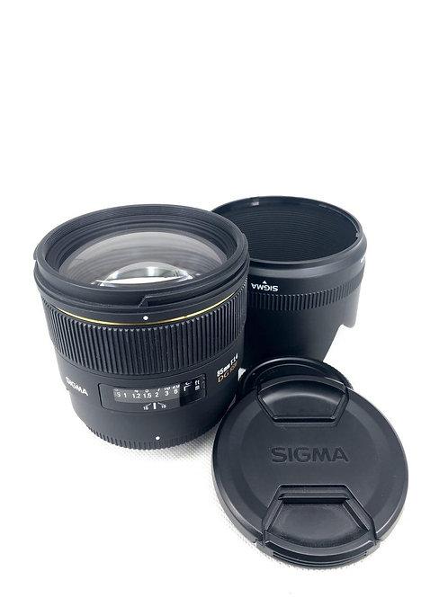 *SOLD* Sigma 85mm f1.4 HSM Nikon Mount (used)