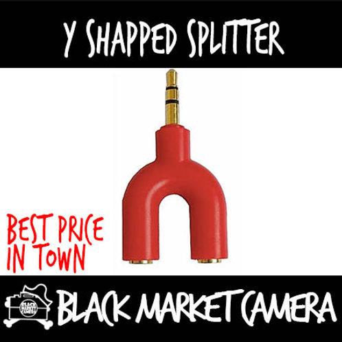 Y shape 3.5mm splitter
