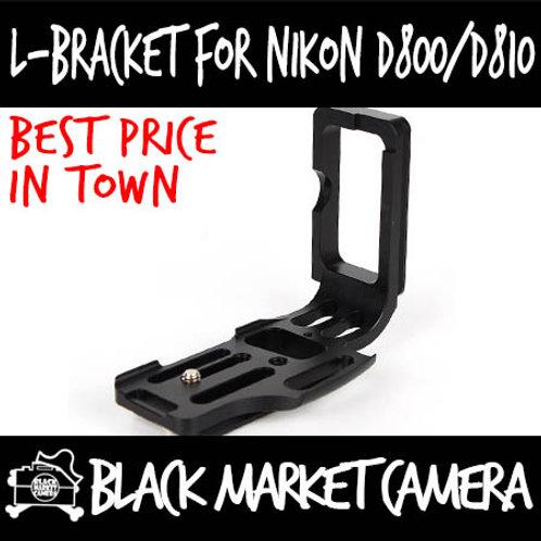 Nikon D800/D800E/D810 L-Bracket Quick Release Plate