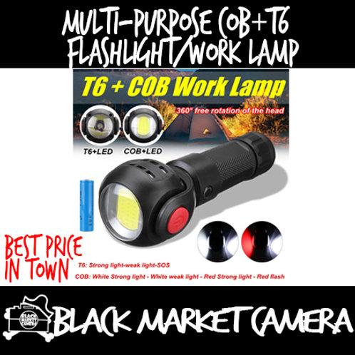 Multi-purpose COB+T6 Flashlight | Worklamp