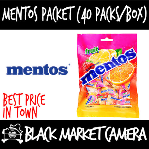 Mentos Packet (Bulk Quantity, 40 Packs per Box)