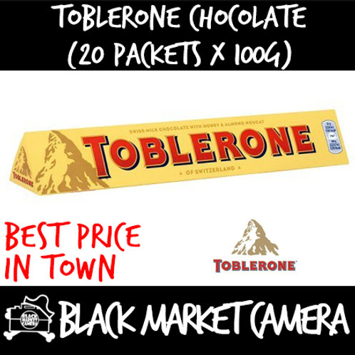 Toblerone Chocolate (Bulk Quantity, 20 Packets x 100g)