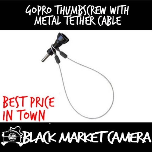 GoPro Thumbscrew with Metal Tether Cable