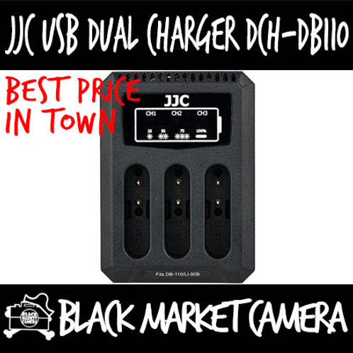 JJC DCH-DB110 USB Charger for Ricoh DB-110/Olympus LI-90B